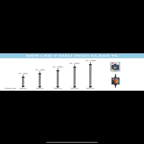 ĐÈN LED HỒ CÁ ĐỔI MÀU-ĐIỀU KHIỂN TỪ XA T4 HIGH CLASS 80CM